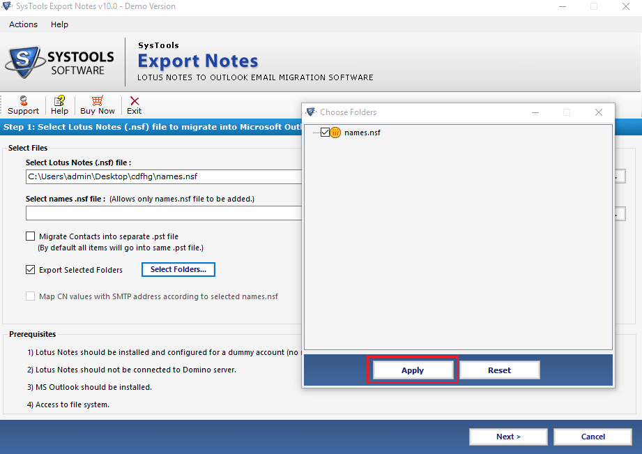 Migrate Lotus Notes Emails to Outlook PST