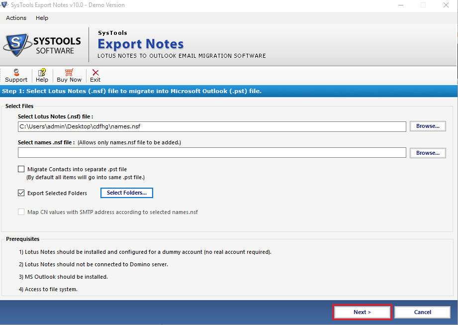 Import Lotus Notes Emails to Outlook