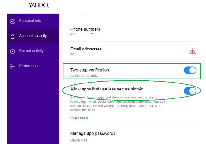 apple mail unable to verify yahoo account