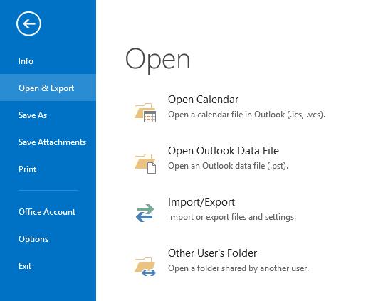 Open & Export file
