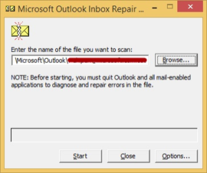 Outlook email application