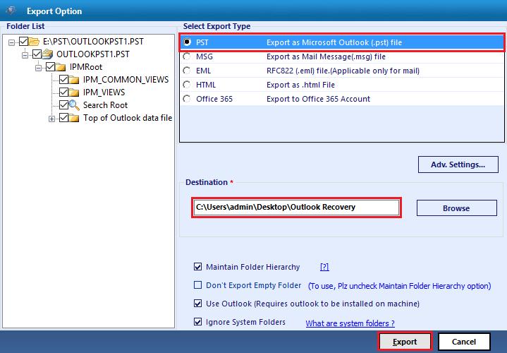 Select File Format