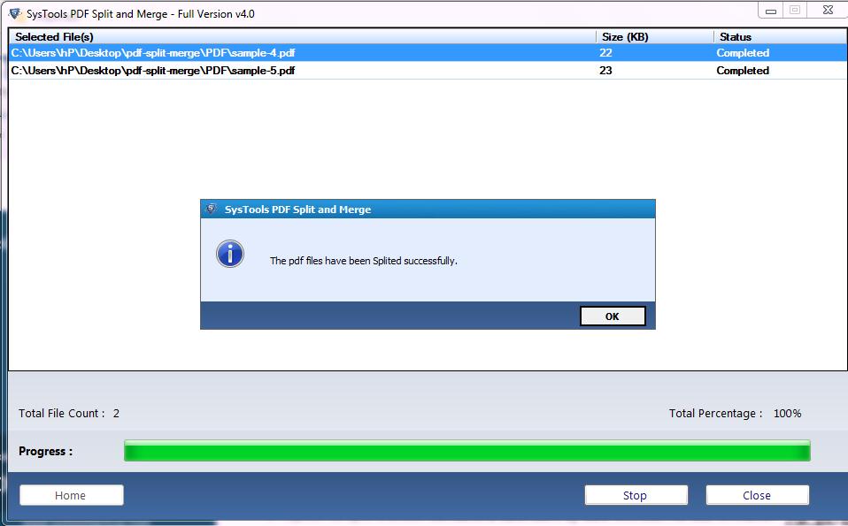 split password protected pdf