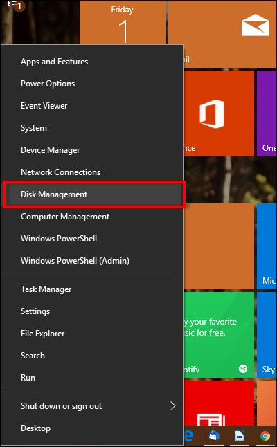 create vhd disk management