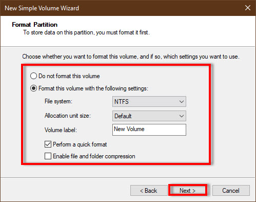 initialize vhdx in Windows 10