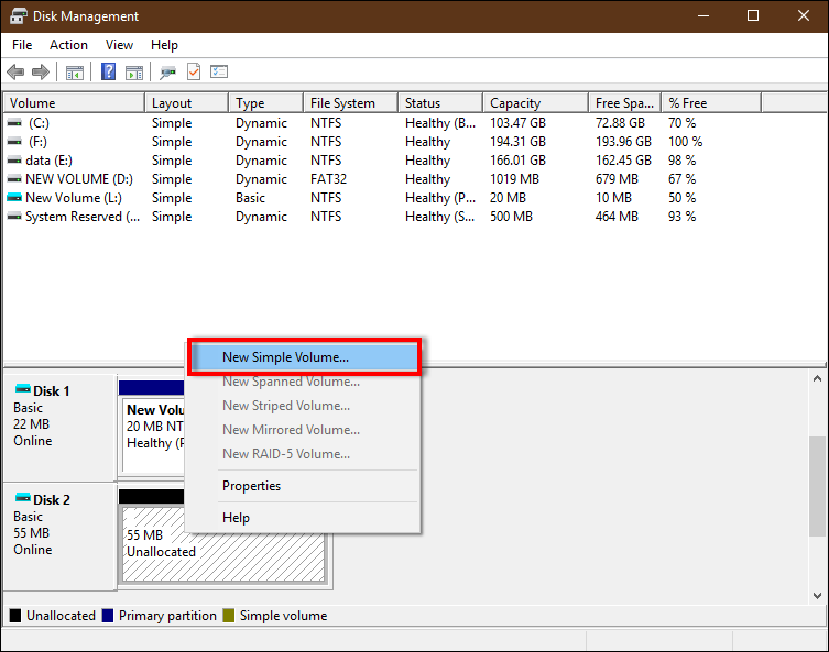 initialize vhdx in Windows