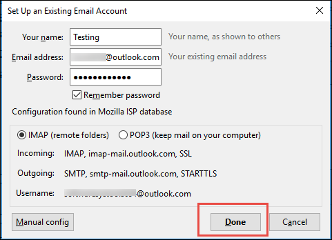 opt for either IMAP or POP3