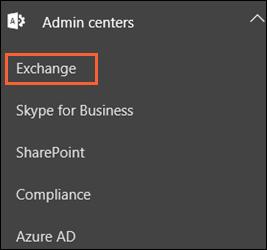 choose MS Exchange
