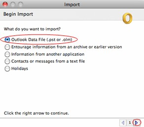 import outlook to Mac mail