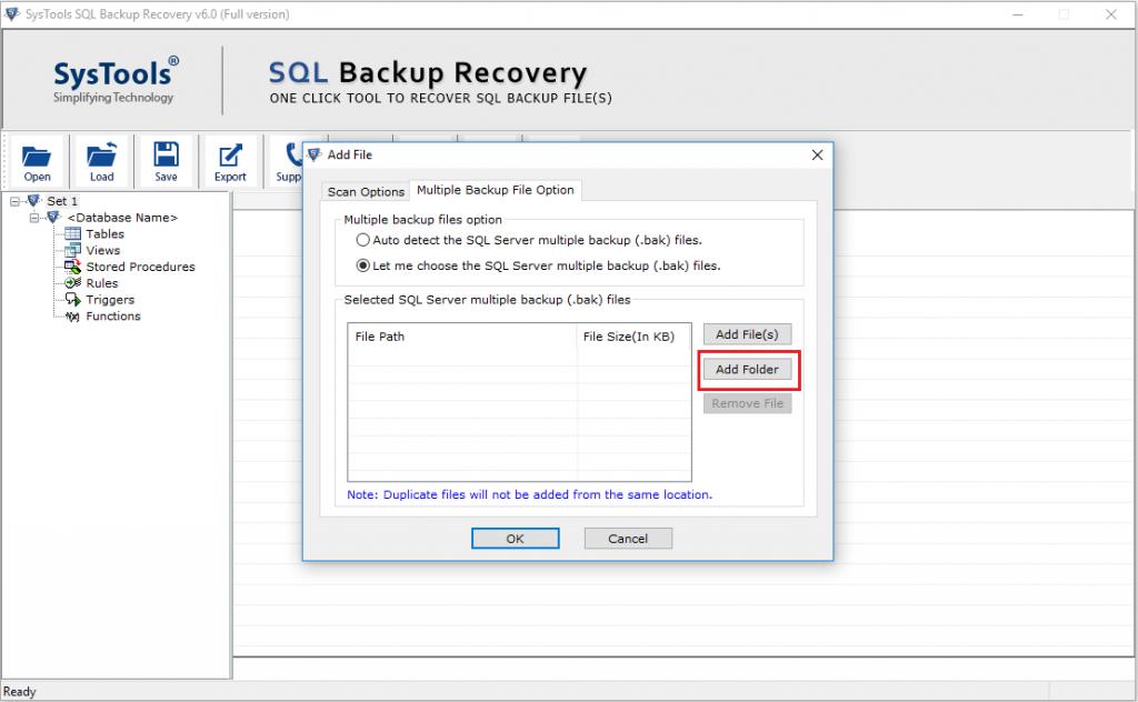 restore multiple bak file 2