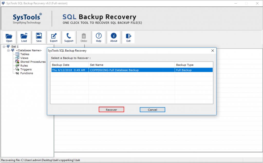 restore multiple bak file 3