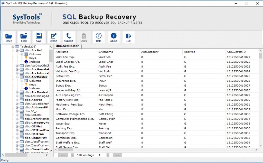 restore multiple bak file 4