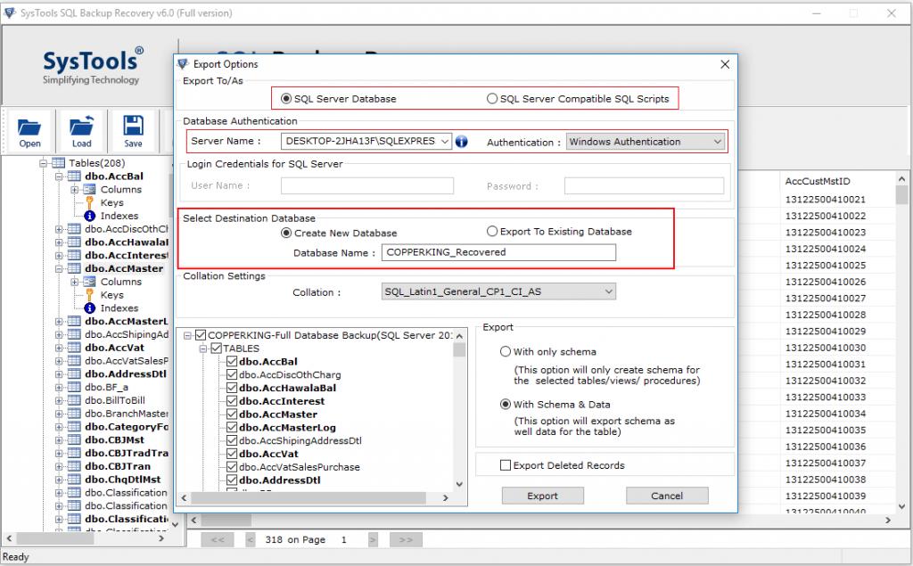 restore multiple bak file 6