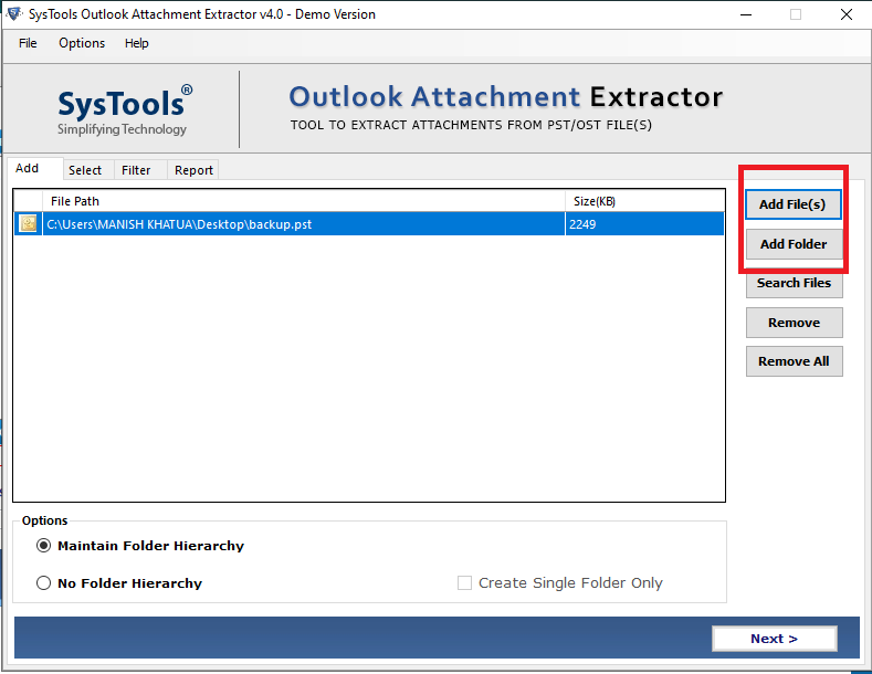 save outlook email attachments