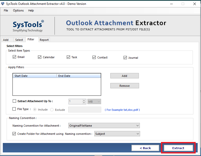 extracting outlook attachment
