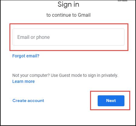 Signin Gmail