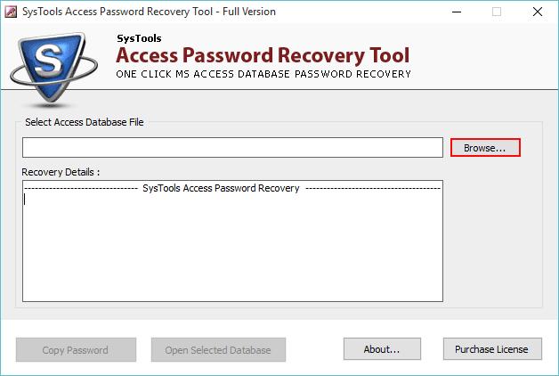 скачать инструмент восстановления пароля доступа к базе данных