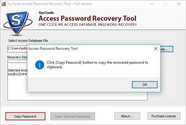 Снять защиту паролем базы данных MS Access