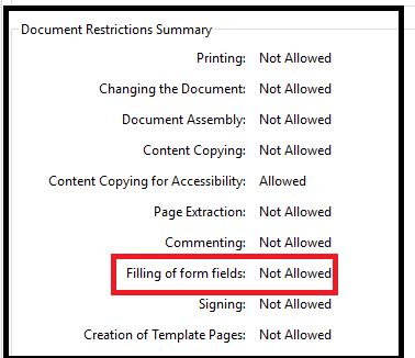 secure adobe pdf form