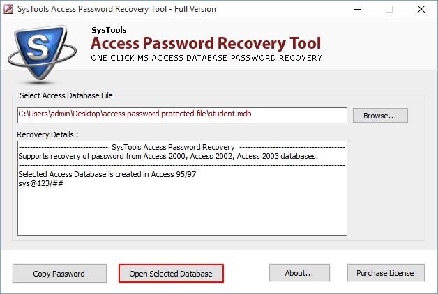 разблокировать защищенную паролем базу данных Access