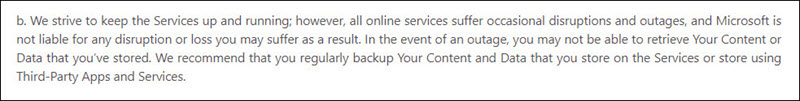 does office 365 include backup