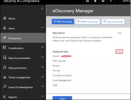 choose + icon in Security & Compliance