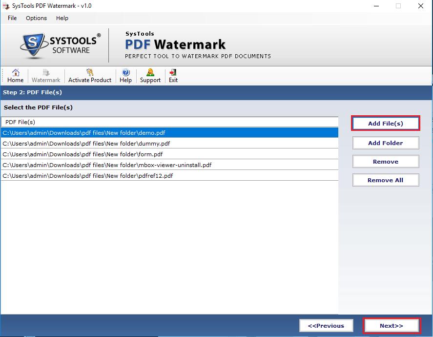 add pdf files for watermarking