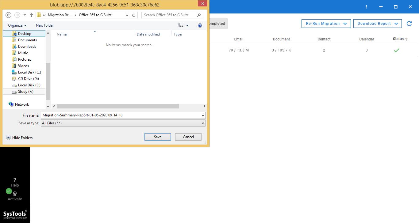 save download report