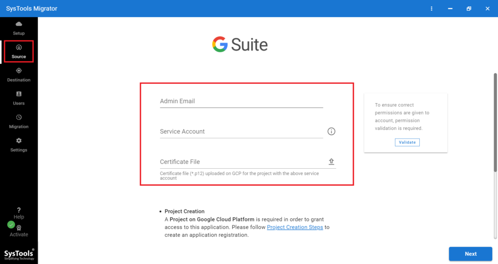 G Suite as Source