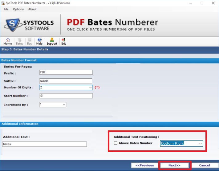 Add Sequential Numbering to PDF