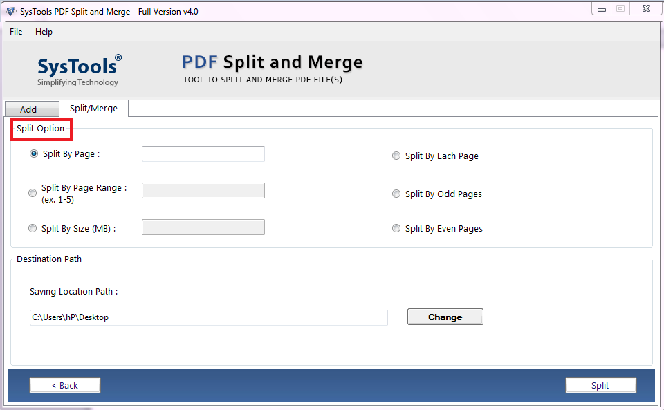 How to break a large PDF file