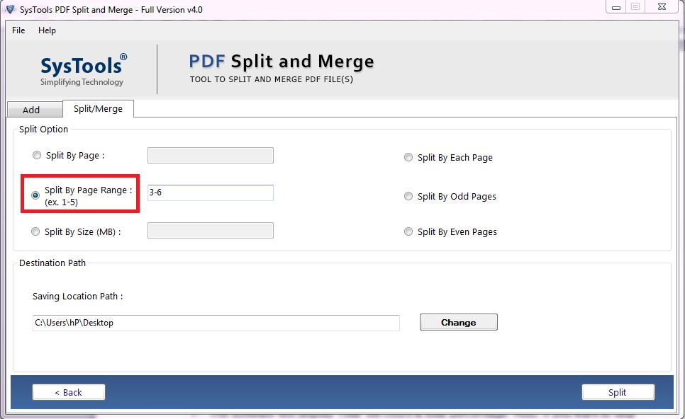 split pdf by page range