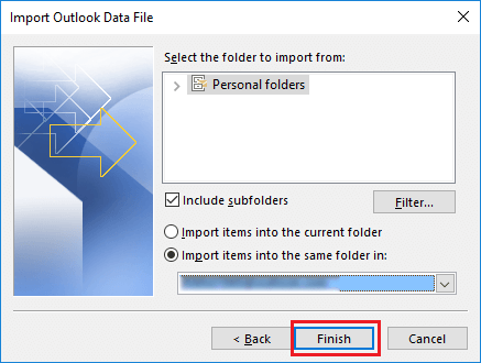 merge two outlook data files