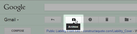 Archive option in Gmail