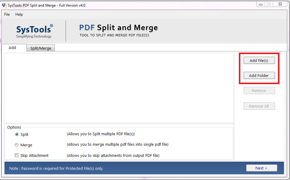 break PDF file into separate pages
