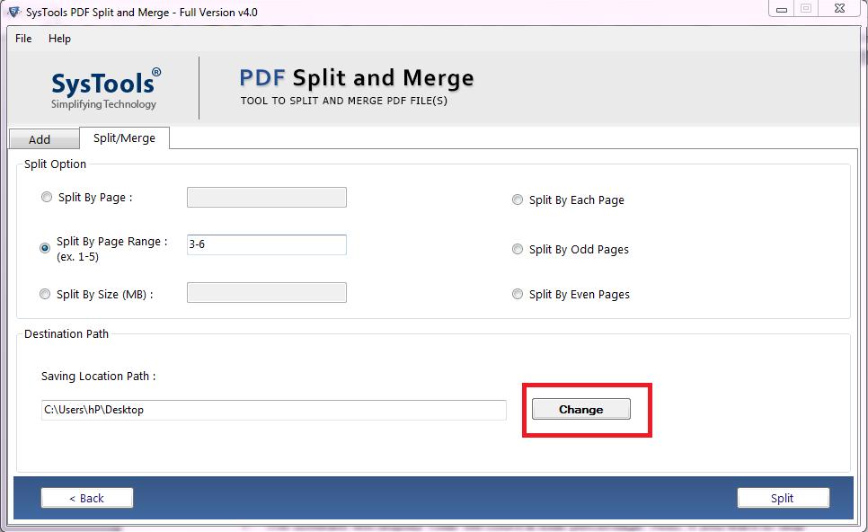 Split a PDF