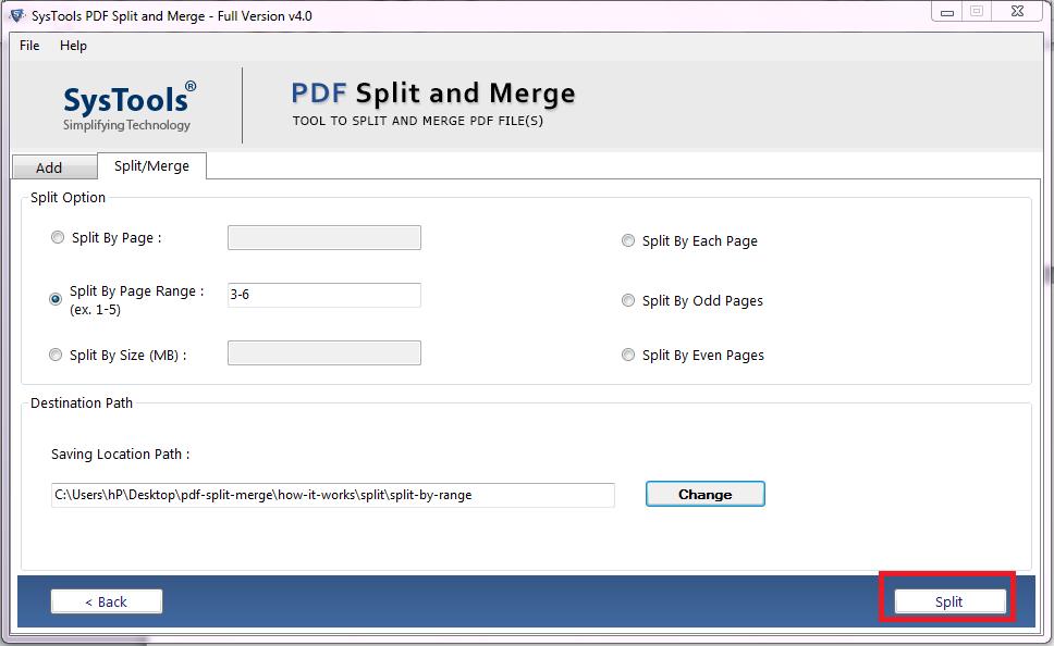 Split a PDF Into smaller parts