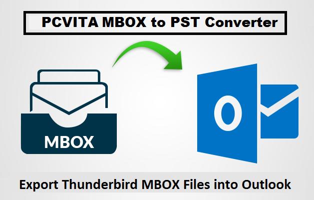 export thunderbird mbox to pst