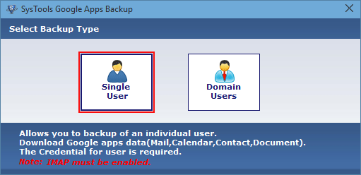 select single user