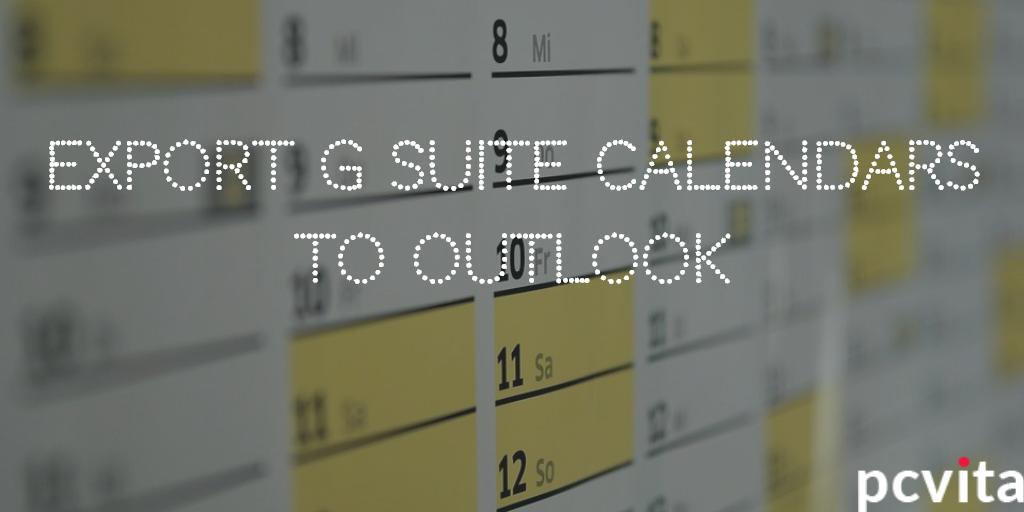 export g suite calendar to outlook