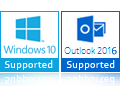 Windows 10, 8 Outlook 2016, 2013