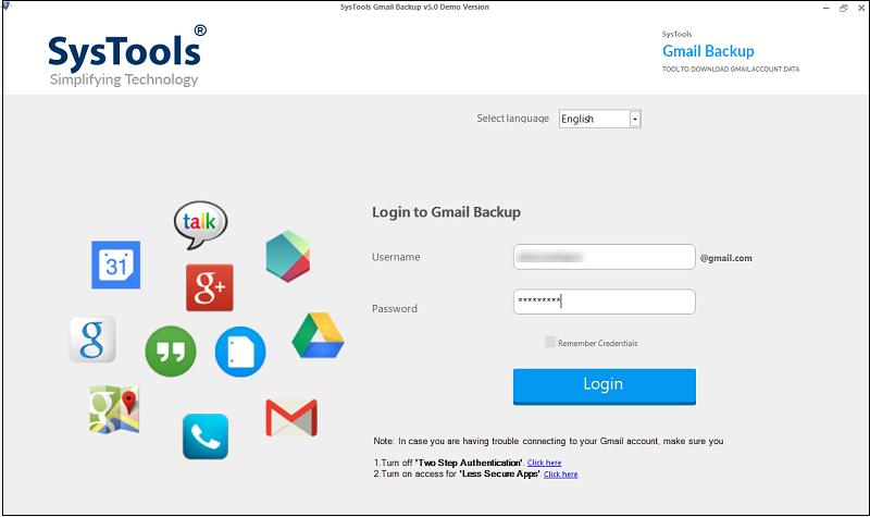 login to gmail backup