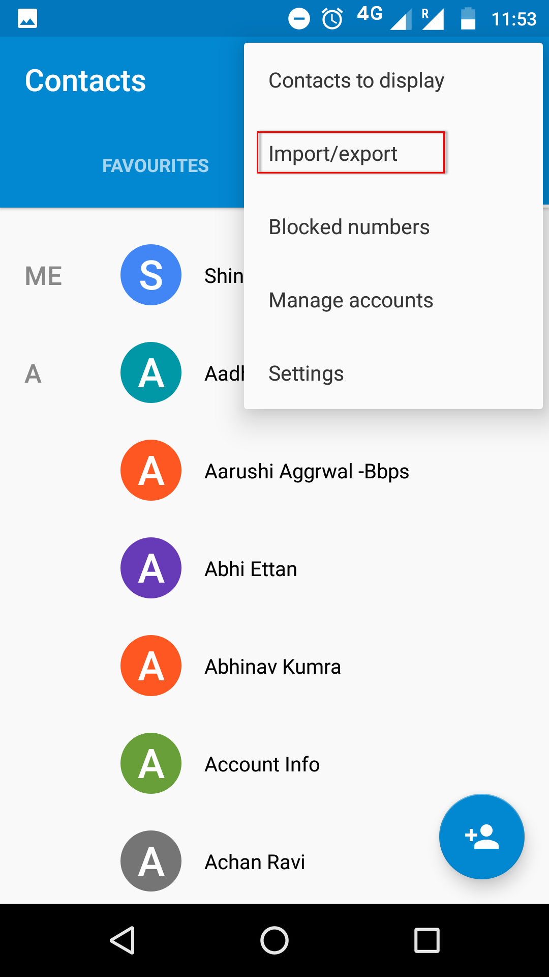 excel to android contacts
