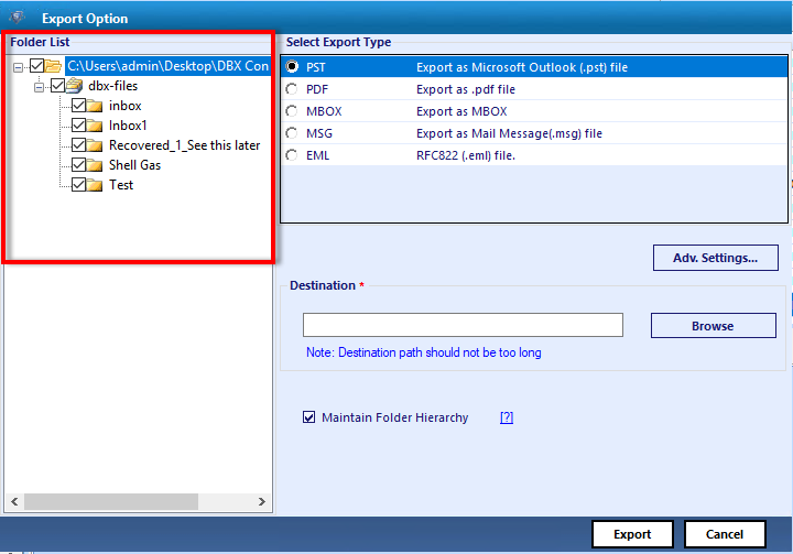 Windows 7 DBX to PST Conversion 4.3 full