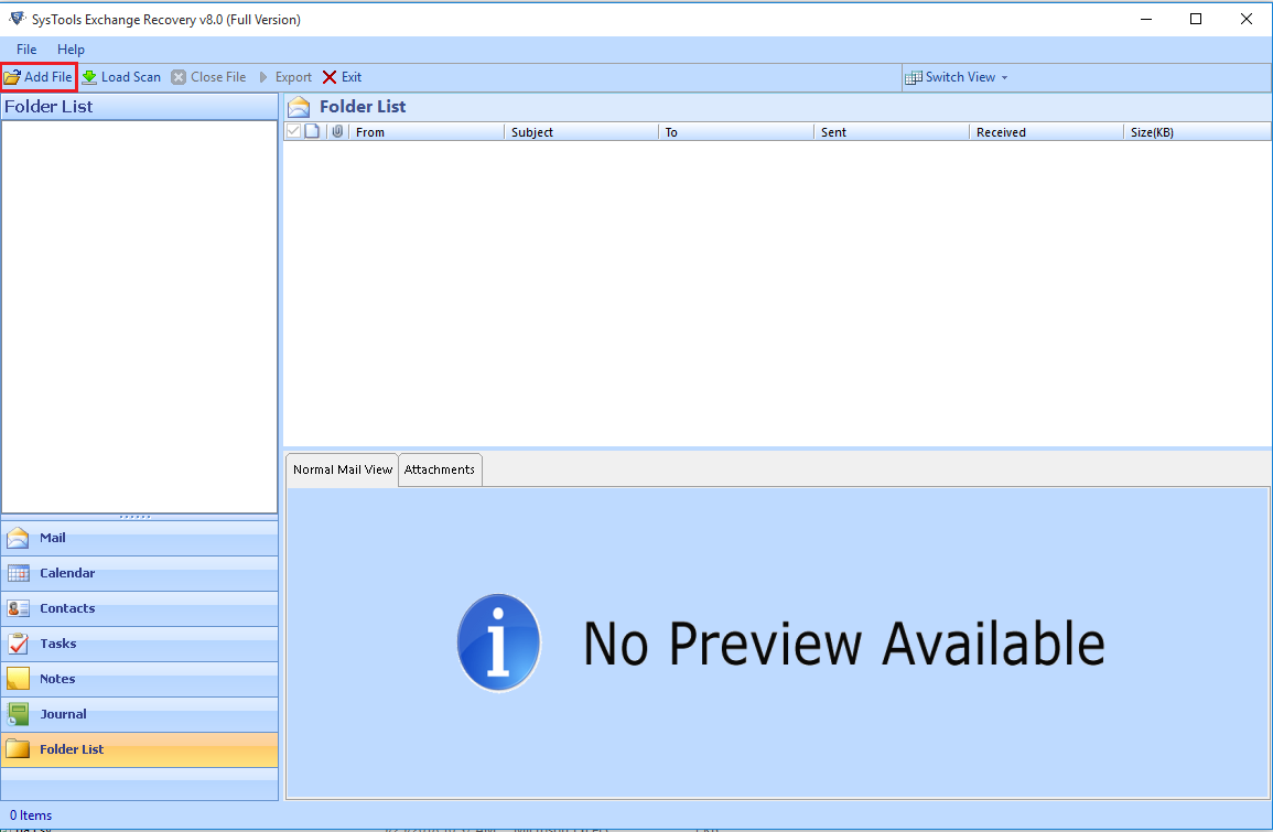 Exchange EDB PST Converter screenshot