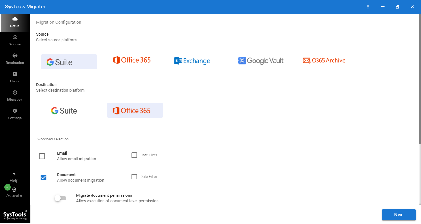 steps to migrate g drive to onedrive