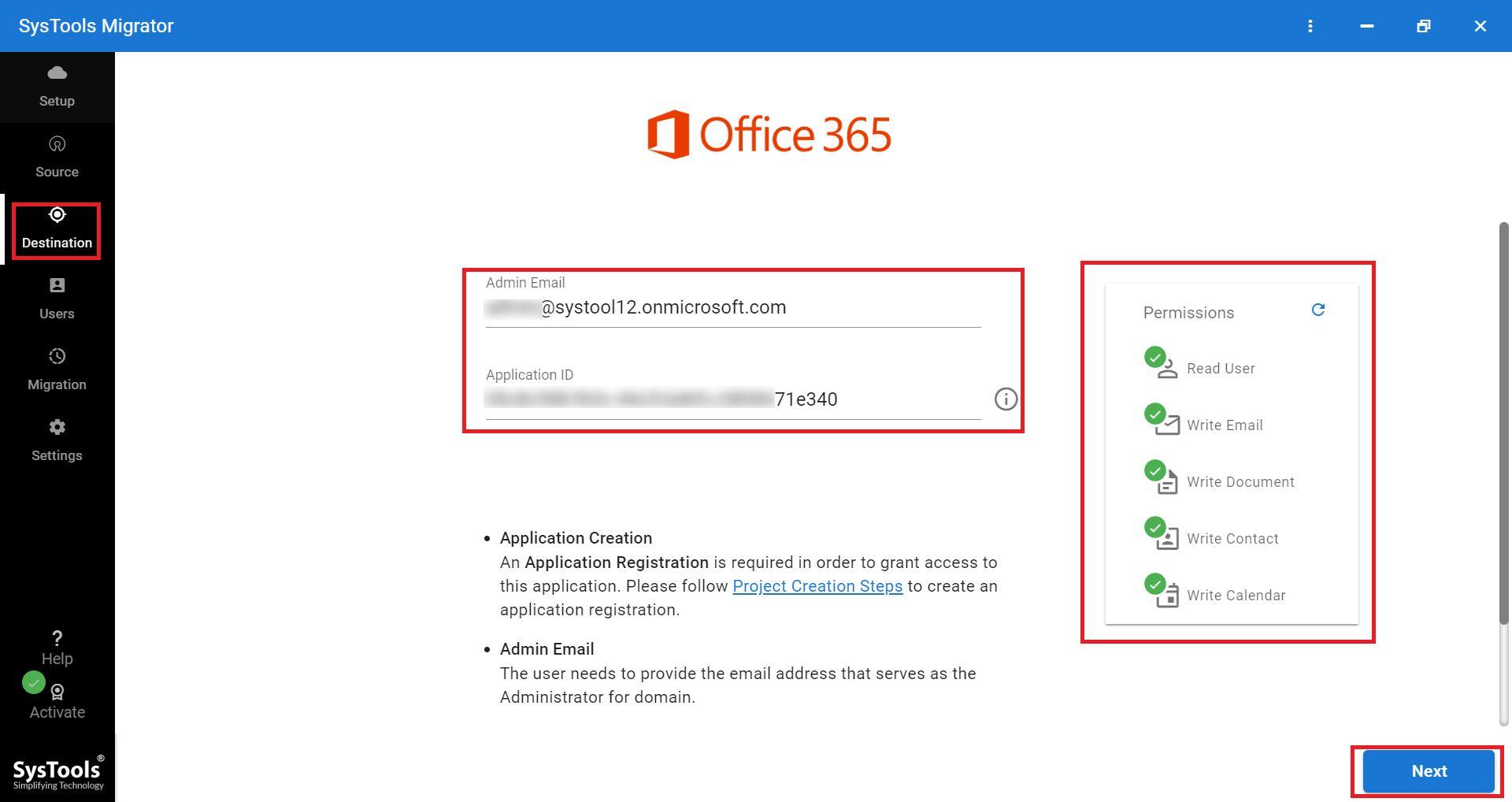 enter O365 credentials
