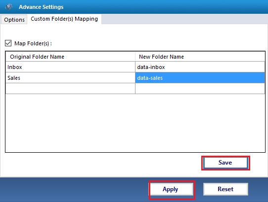 Folder Mapping