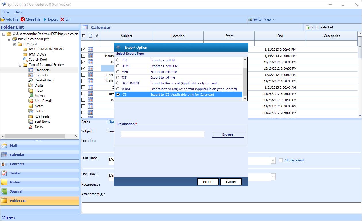 Импорт календаря Outlook в Claws Mail