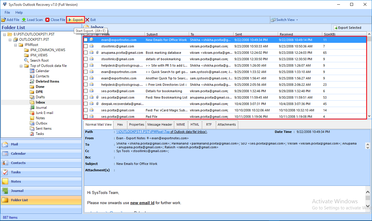 Repair Corrupt PST File